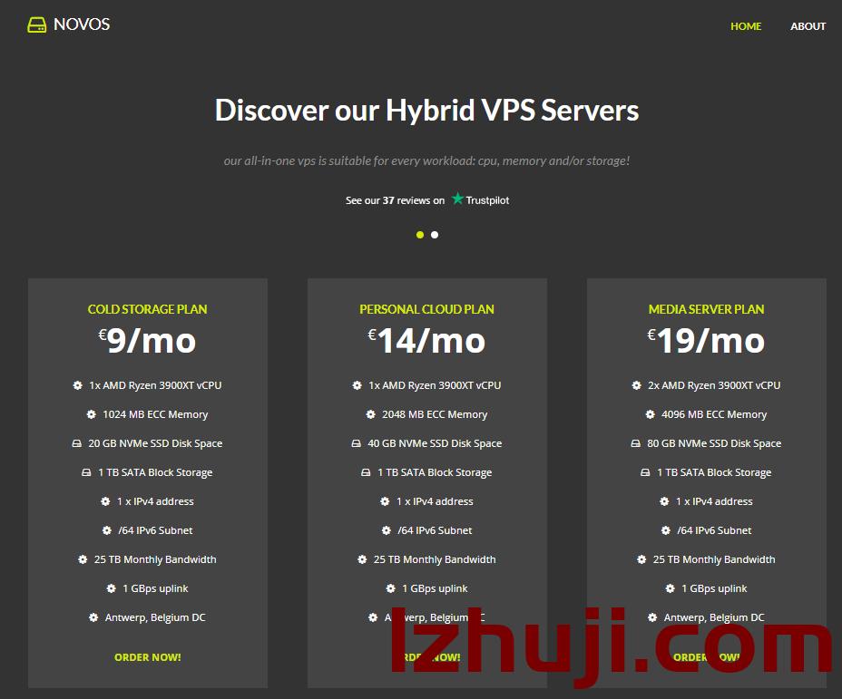 novos:比利时VPS,€8/月,2G内存/1核(Ryzen 3900XT),40gNVMe+1T HDD/25T流量-撸主机评测-国外VPS,国外服务器,国外主机,测评及优惠码